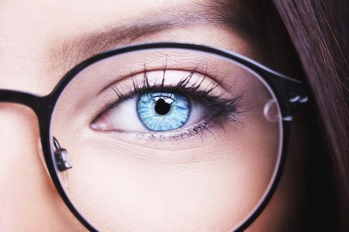 Close up eye of woman