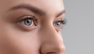 close up eyes