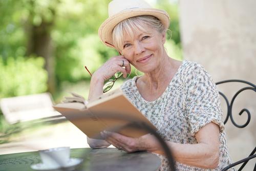 Senior woman reading